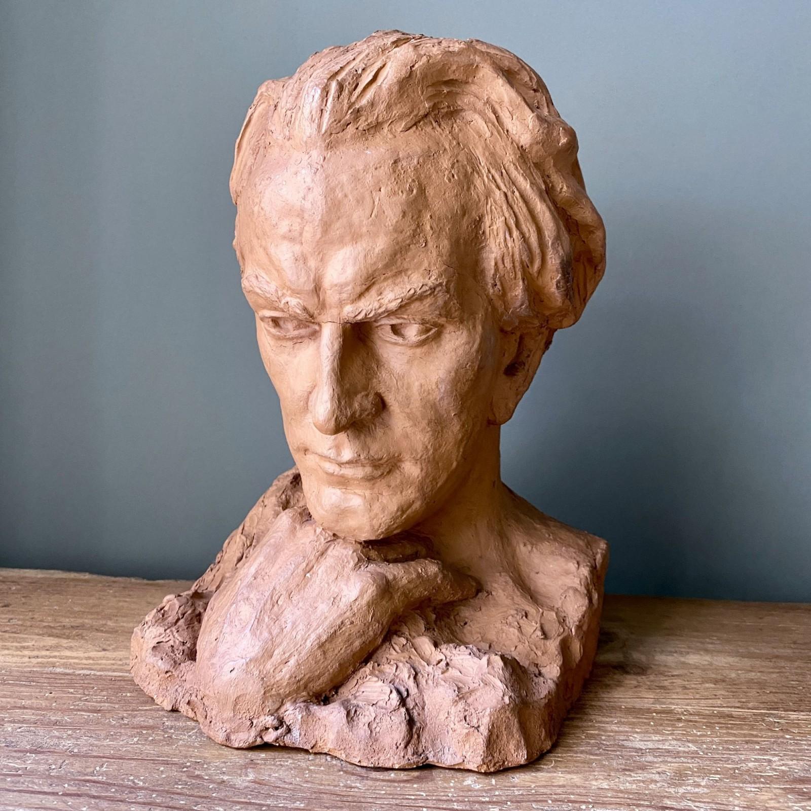 midcentury terracotta bust
