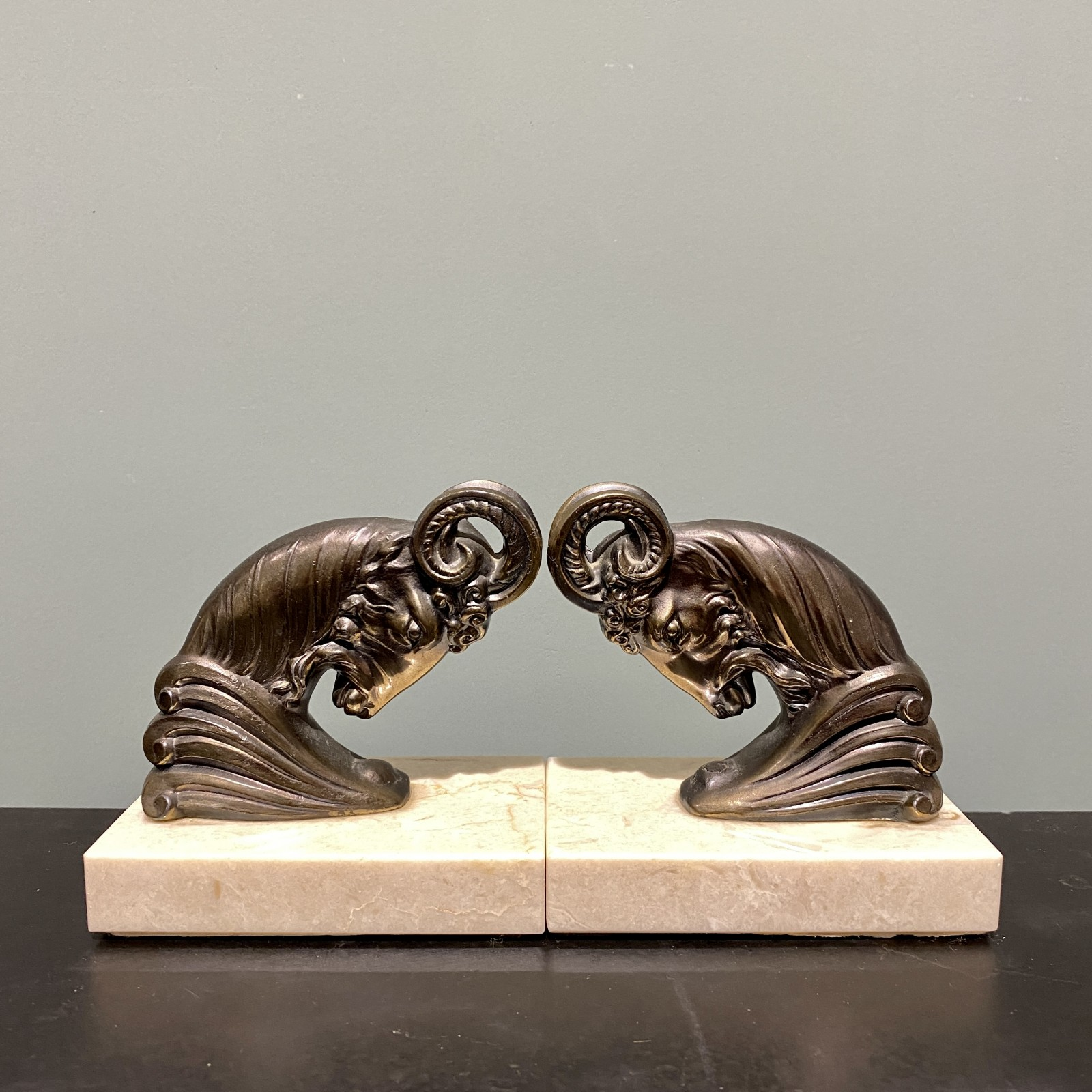 midcentury pair of bookends