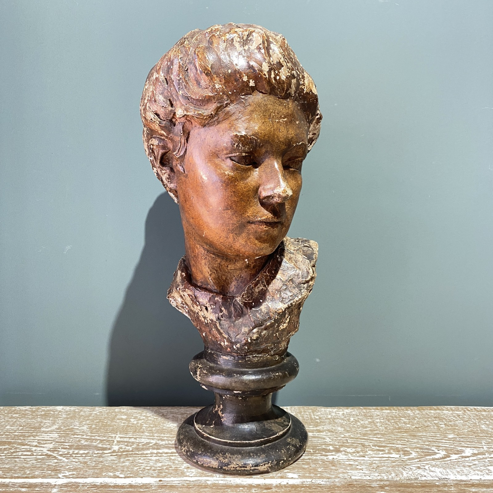 french plaster bust of a...