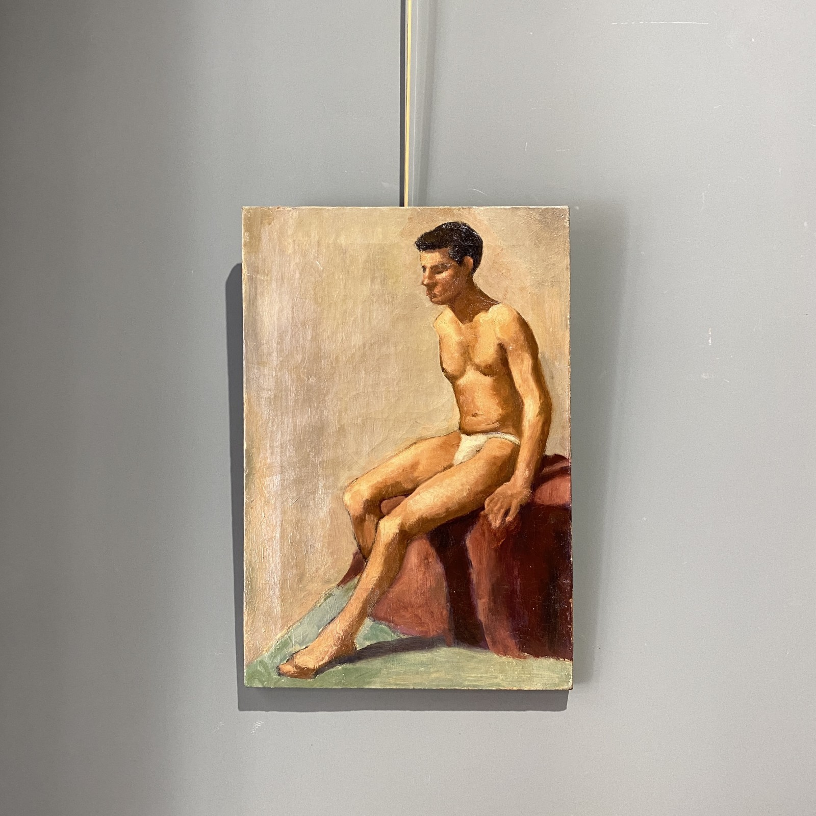 english male painting