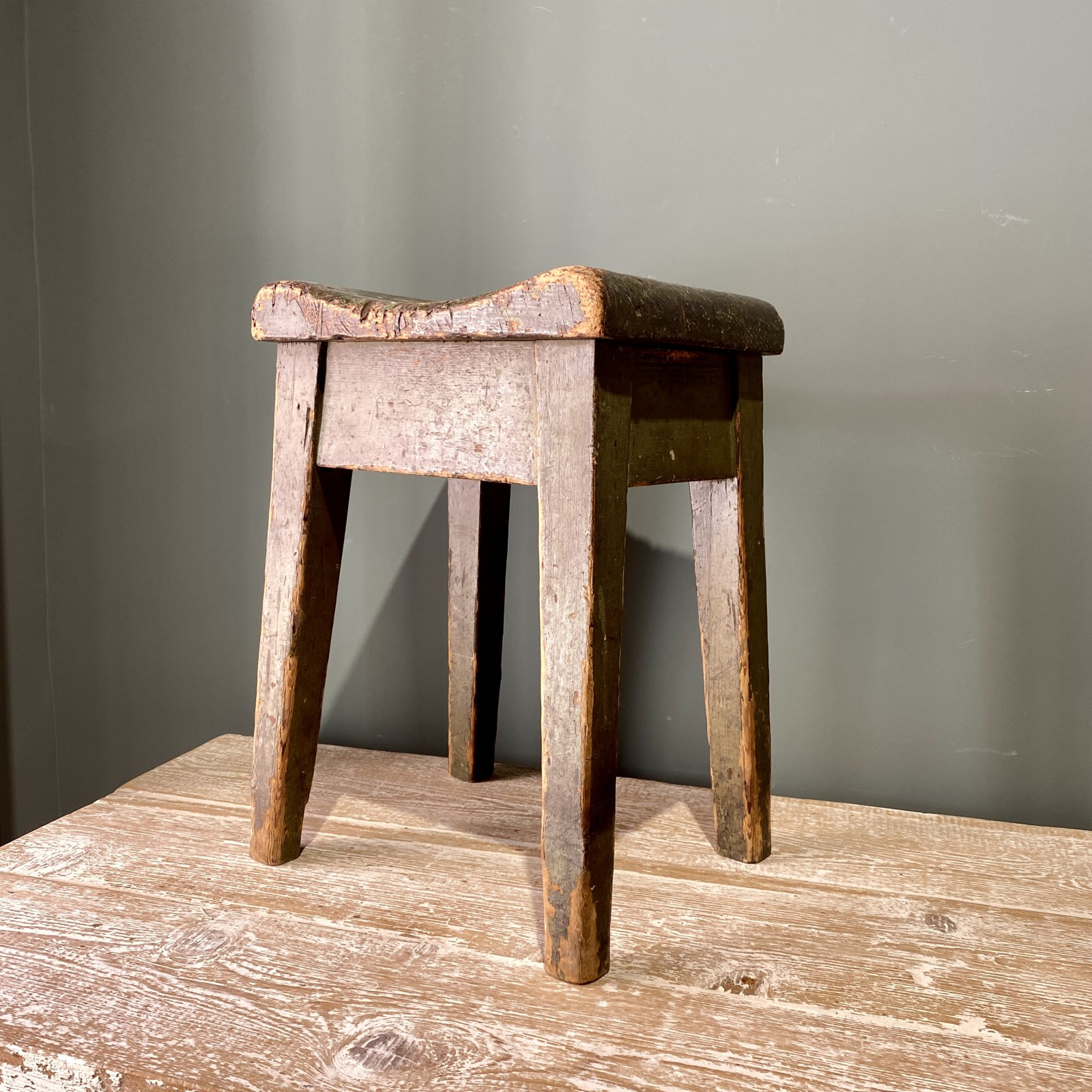 19th century wood stool