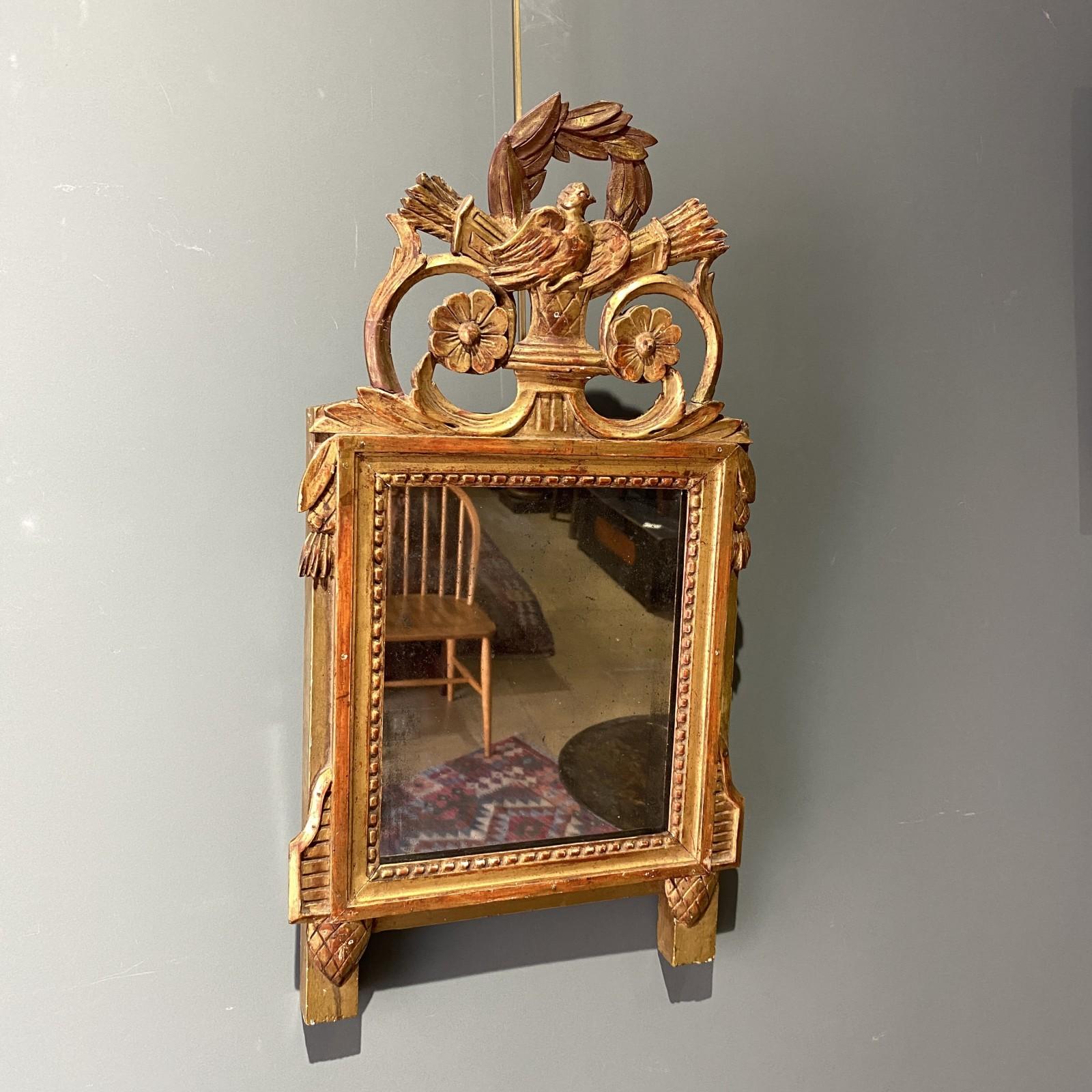 pequeño espejo Louis XVI